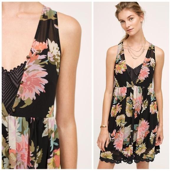 ea608147f8b64 Anthropologie Dresses   Skirts - Anthropologie Maeve Violetta Dress in  Black Floral